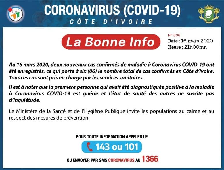 Mesures à prendre contre le Coronavirus (COVID-19)