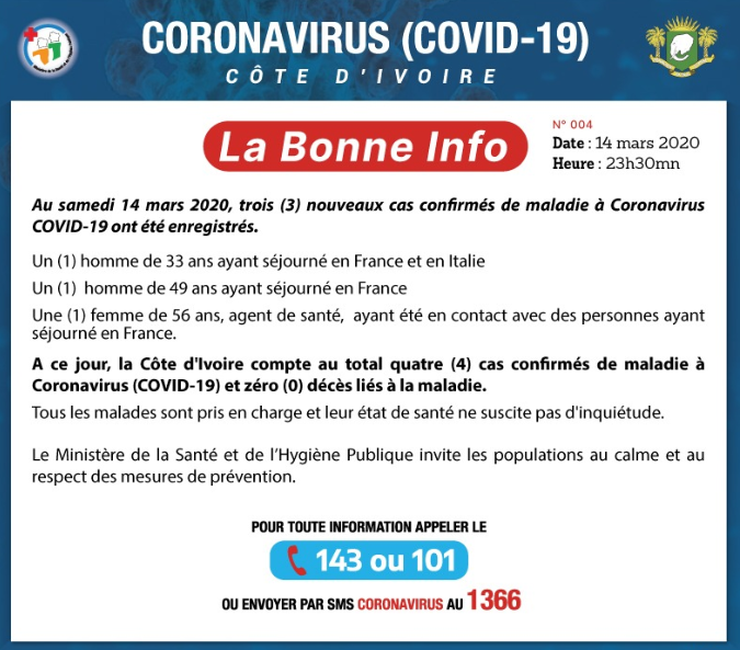 bulletin quotidien d'information covid-19
